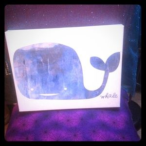 Accessories - Nautical whale painting